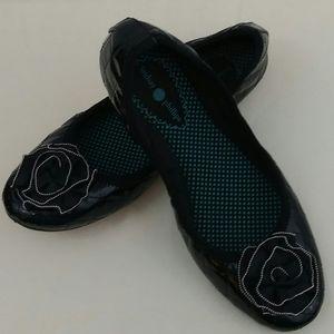 Lindsey Phillips Liz Black  Patent Leather Flats